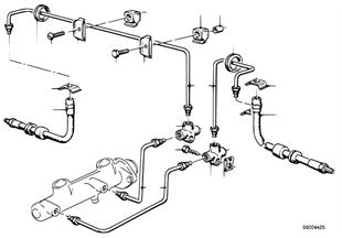 Трубопровод тормозного привода Пд