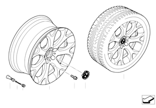 BMW경합금휠,Y-스포크 211