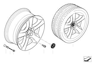 BMW경합금휠,성형스파이더 212