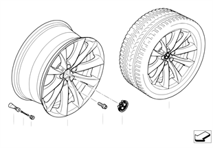 BMW LA wheel, V-spoke 239