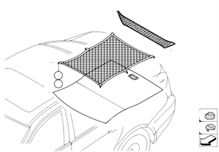 Retrofit: boot/trunk floor net