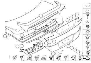 Pezzi singoli per cofano porta bagagli
