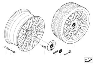 BMW 경합금(LM) 휠 개별 V 스포크 265