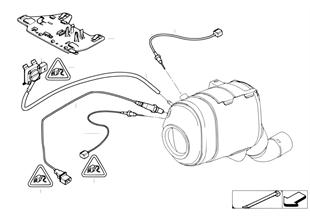 Dieselpartikelfiltersensorik/Anbauteile