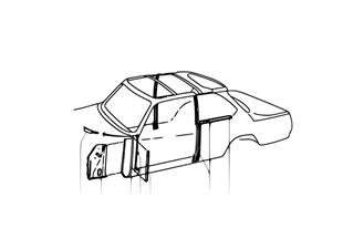 Raamwerk zijkant-langsligger/stijlen
