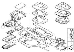Дек.накладки на центральную консоль