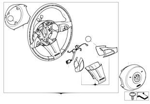 스포츠조향휠 가죽/목재링, Multif.