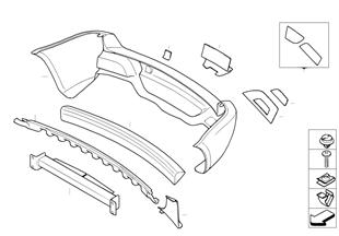 Trim panel, bumper, rear, aerod.pckage I