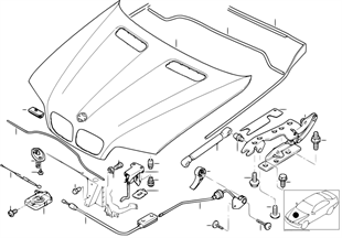 Motor kaputu/Montaj parçaları