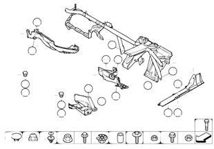 Детали кузова съемные/днище/мотор.отсек