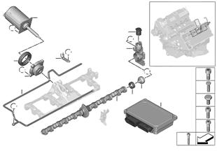 Ventilsteuerung-Exzenterwelle, Stellmotor