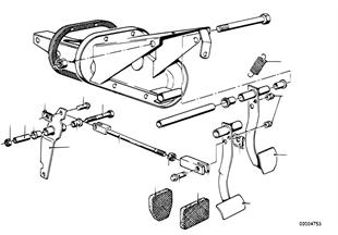 System.pour pedales/tringlerie de renvoi
