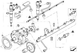 Inspuit-installatie /Diesel-hogedrukpomp