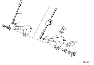 Accelerator pedal/rod assy
