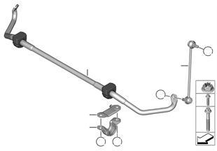 Barra stabilizzatore anteriore