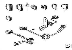 Steering column switch/various switches