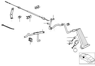 Comando de aceleração/cabo Bowden