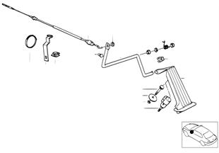Commande d'accélérateur/câble Bowden RHD
