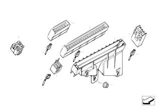Zekeringskastje/relais bevestiging