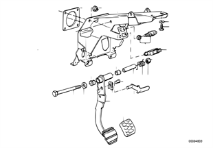 Pedals supporting bracket/brake pedal