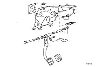 Suporte apoio p/ pedais/pedal travão