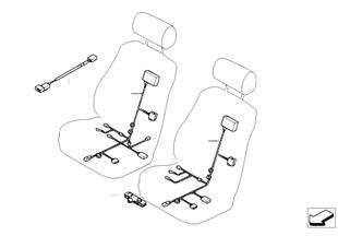 Wiring set, basic/sports seat, manual