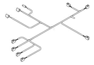 Wiring harness, drive unit, seat