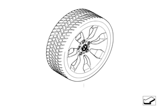 Winter complete wheel double spoke 158