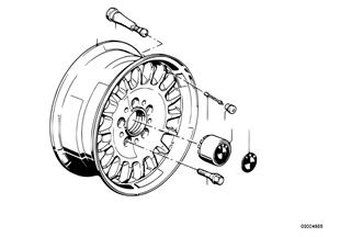 Scheibenrad LM gegossen Styl.TRX-2