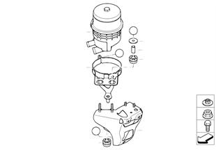 Réservoir huile/pièces dét/Direc. activ
