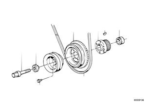 V ベルト駆動部の振動ダンパー