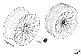 BMW LA wheel, multispoke 284