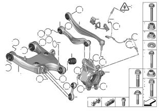 Soporto eje trasera/suspension ruedas