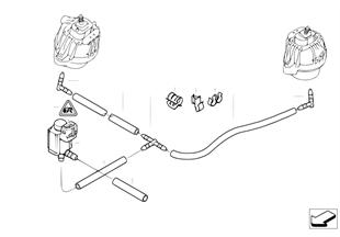 Vakum kumandası-Motor takozu