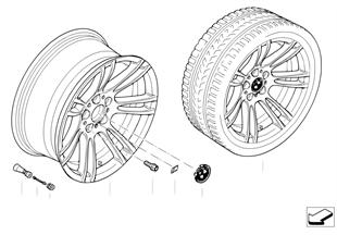 BMW LM Rad Doppelspeiche 270