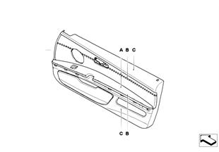 Kişisel, kapı döşemesi, parça deri LC