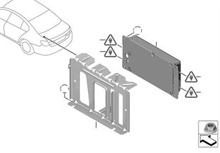 Onderdelen SU 644 bagageruimte/USB
