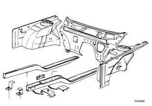 Parte delantera-soporte del motor