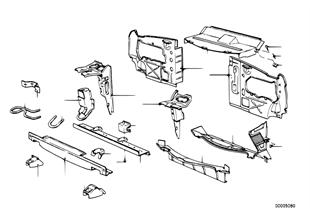 Детали передка кузова