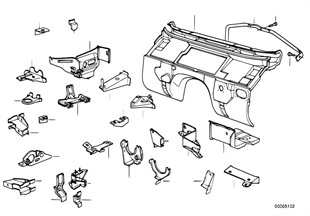 Splash wall parts