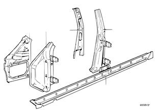 Podłużnica szkieletu bocznego/słupki