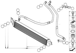 Motorölkühler/Ölkühlerleitung