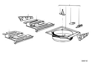 Suelo del maletero/partes laterales