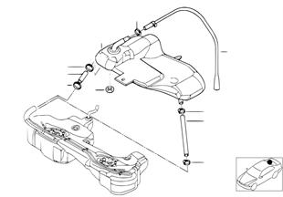 fuel tank attaching parts bmw 3 e46 320d m47 europe BMW E46 Relay Diagram expansion tank