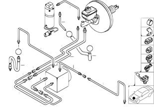Tubo de travão dianteiro ASC/DSC
