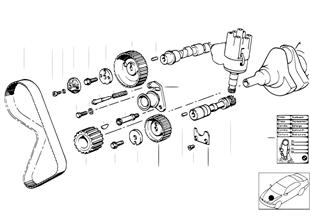 制御駆動装置のコッグド ベルト