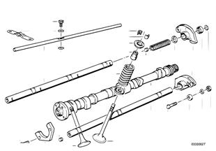 バルブ制御のカムシャフト/潤滑