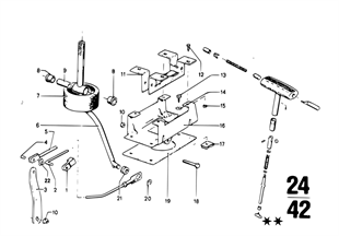 ZF 3HP22 シフトメカニズム/P ロック