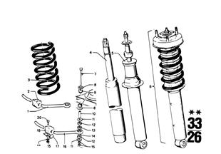 R ストラット、コイル/取付部品
