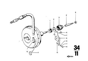 Brake master cylinder w.power brake unit
